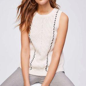 LOFT Knit Sweater Tank, Size M